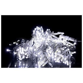 Catena 200 led ultraluminosi bianchi 40 ministrobo 20 mt int est corrente s1
