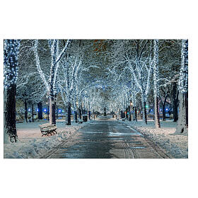 String lights 200 LEDs ultrabright white 40 strobe effect 20 m indoor outdoor electric s2