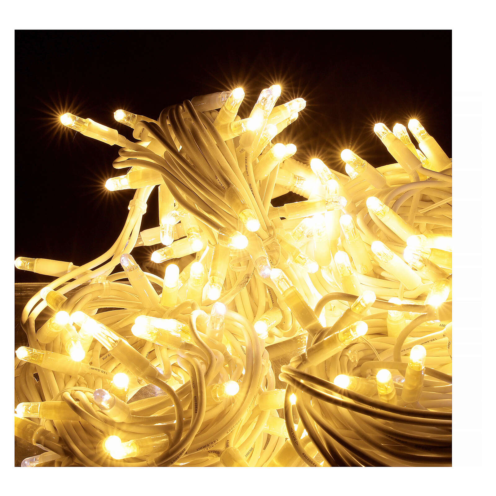 Warm white string lights 20 m 200 ultra-bright LEDs indoor outdoor electric 3