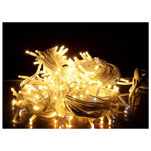 Warm white string lights 20 m 200 ultra-bright LEDs indoor outdoor electric 1