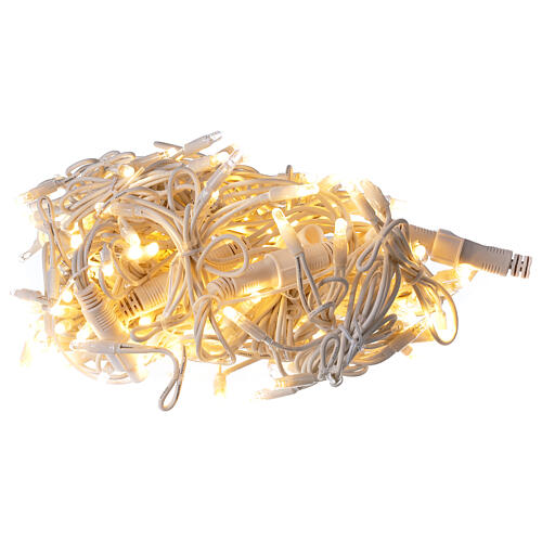 String light curtain offset 180 LEDs warm white indoor outdoor 1 m 5