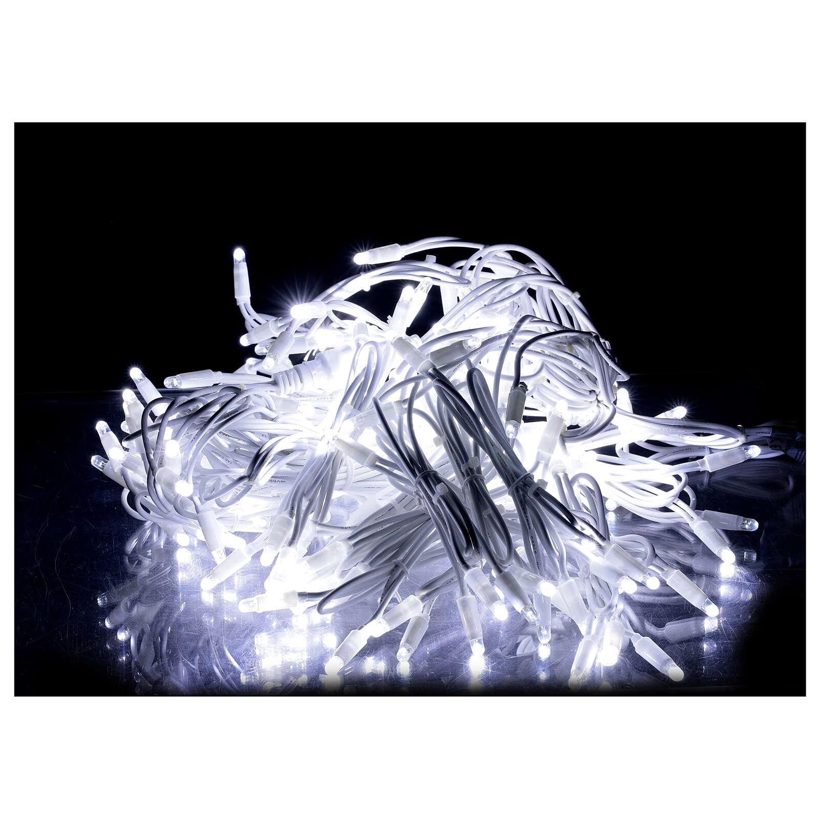Tenda luminosa sfalsata 160 led bianco freddo 32 flash int est 3