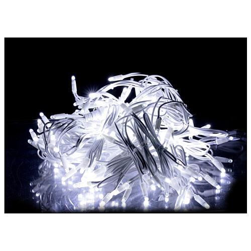 Tenda luminosa sfalsata 160 led bianco freddo 32 flash int est 2