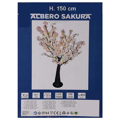 Ciliegio Sakura luminoso 336 led h 150 cm corrente ESTERNO 9