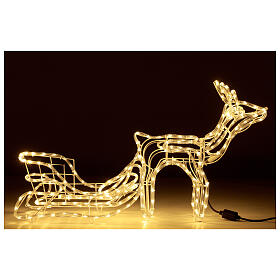Lighted Reindeer with sleigh warm white 264 LEDs h 52 cm electric OUTDOOR s1