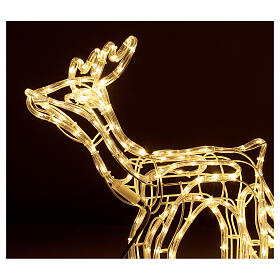 Lighted Reindeer with sleigh warm white 264 LEDs h 52 cm electric OUTDOOR s2