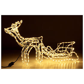 Lighted Reindeer with sleigh warm white 264 LEDs h 52 cm electric OUTDOOR s3