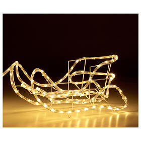 Lighted Reindeer with sleigh warm white 264 LEDs h 52 cm electric OUTDOOR s4