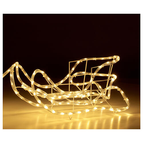 Lighted Reindeer with sleigh warm white 264 LEDs h 52 cm electric OUTDOOR 4