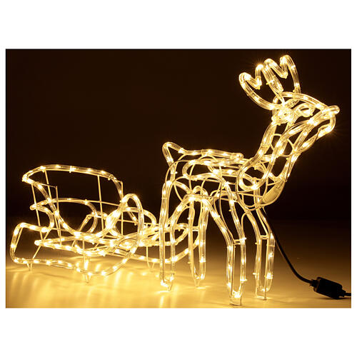 Lighted Reindeer with sleigh warm white 264 LEDs h 52 cm electric OUTDOOR 5