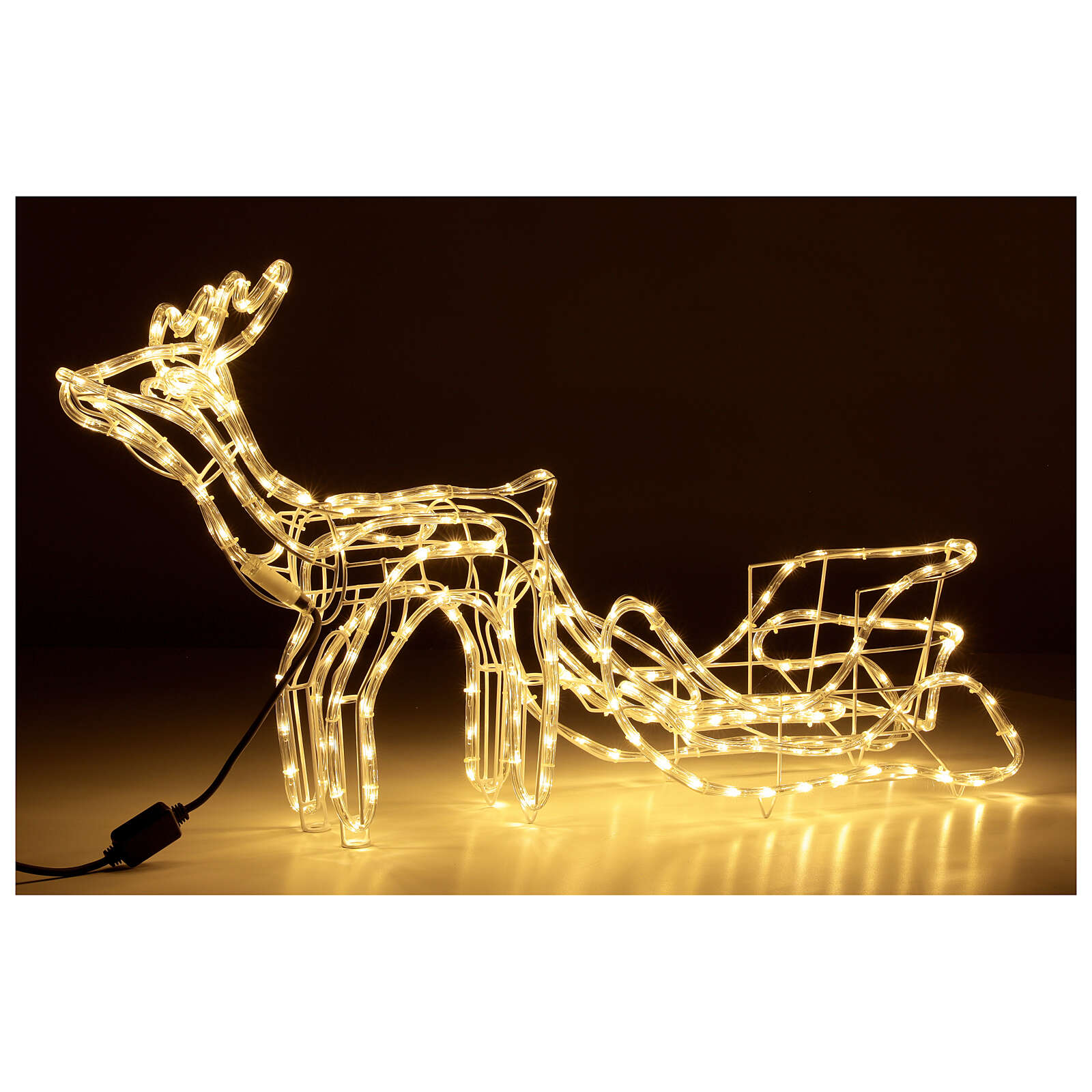 Lighted Reindeer with sleigh warm white 264 LEDs h 52 cm electric OUTDOOR 3