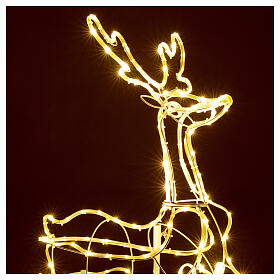 Illuminated reindeer 3d tapelight warm white 90x100x30 cm OUTDOOR s2