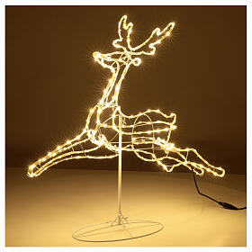 Illuminated reindeer 3d tapelight warm white 90x100x30 cm OUTDOOR s3