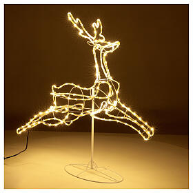 Illuminated reindeer 3d tapelight warm white 90x100x30 cm OUTDOOR s4