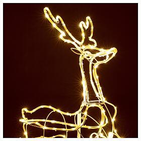 Illuminated reindeer 3d tapelight warm white 90x100x30 cm OUTDOOR s2