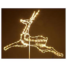 Illuminated reindeer 3d tapelight warm white 90x100x30 cm OUTDOOR s5