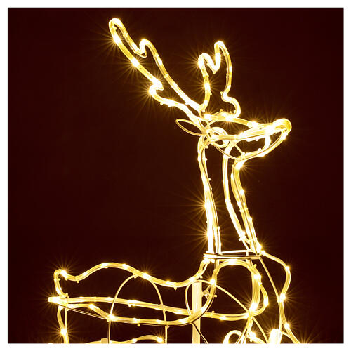Illuminated reindeer 3d tapelight warm white 90x100x30 cm OUTDOOR 2