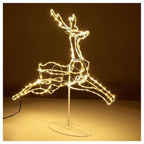 Illuminated reindeer 3d tapelight warm white 90x100x30 cm OUTDOOR 4