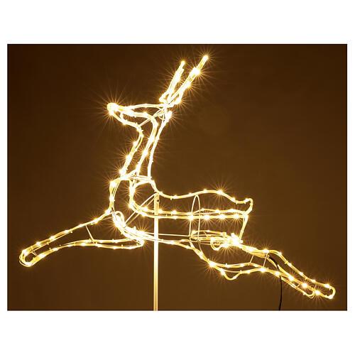 Illuminated reindeer 3d tapelight warm white 90x100x30 cm OUTDOOR 5