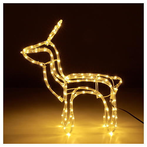 Illuminated reindeer warm white 120 LEDs h 55 cm electric powered OUTDOORS 1
