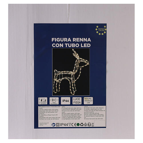 Illuminated reindeer warm white 120 LEDs h 55 cm electric powered OUTDOORS 6