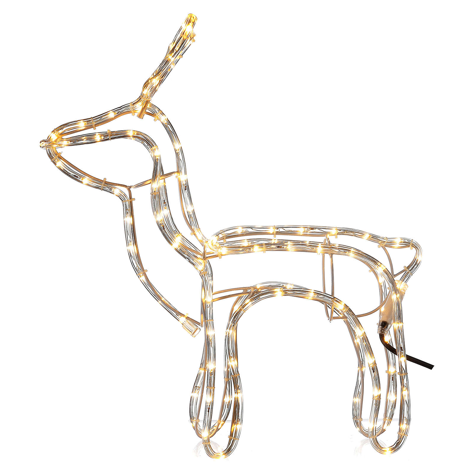 Illuminated reindeer warm white 120 LEDs h 55 cm electric powered OUTDOORS 3