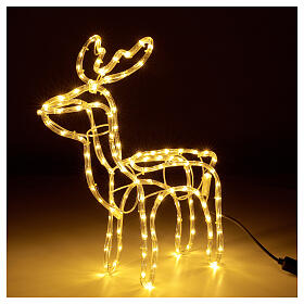 Illuminated reindeer warm white 120 LEDs h 55 cm electric powered OUTDOORS s3