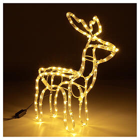 Illuminated reindeer warm white 120 LEDs h 55 cm electric powered OUTDOORS s4