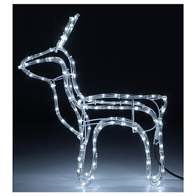 Reindeer Christmas decoration 120 cold white LEDs h 55 cm electric s1