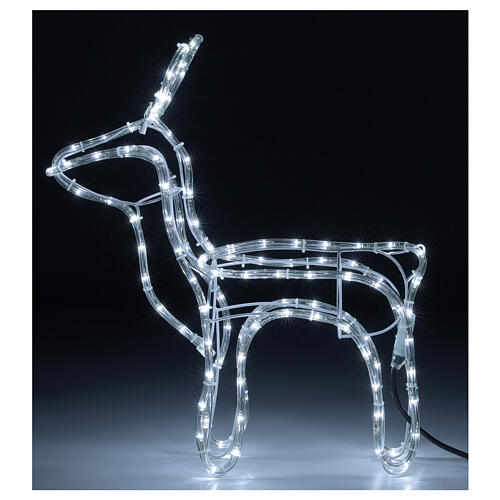 Reindeer Christmas decoration 120 cold white LEDs h 55 cm electric 1