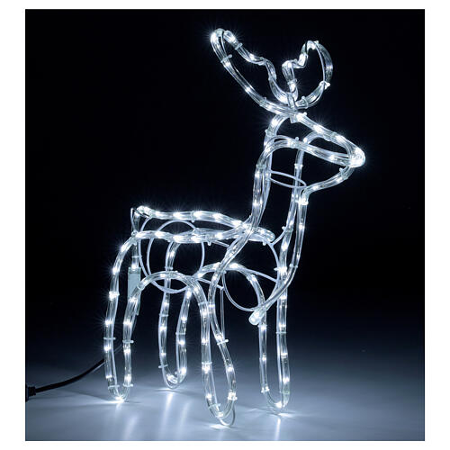 Reindeer Christmas decoration 120 cold white LEDs h 55 cm electric 4