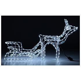 Renna slitta natalizia 264 led bianco freddo h 52 cm corrente ESTERNO s1