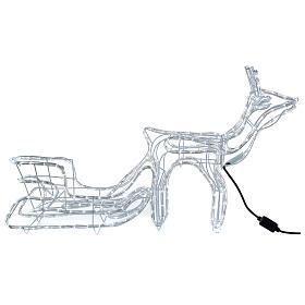 Renna slitta natalizia 264 led bianco freddo h 52 cm corrente ESTERNO s6