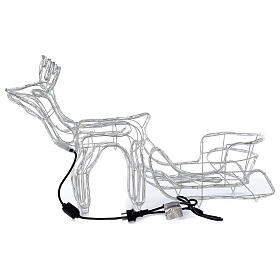 LED reindeer with sleigh 264 cold white lights h 52 cm electric powered OUTDOOR s8
