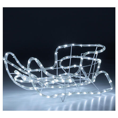 LED reindeer with sleigh 264 cold white lights h 52 cm electric powered OUTDOOR 4