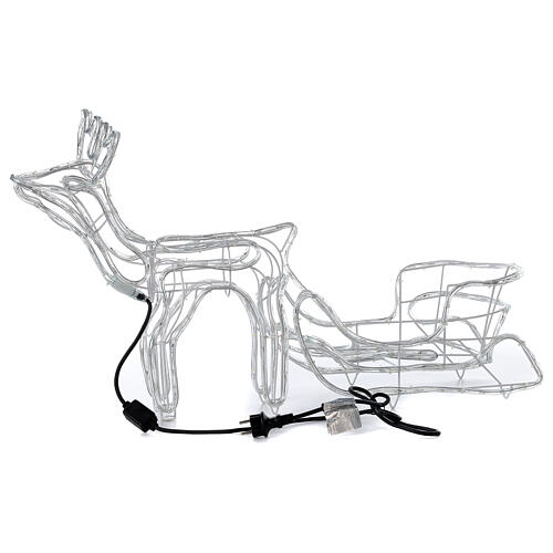 LED reindeer with sleigh 264 cold white lights h 52 cm electric powered OUTDOOR 8