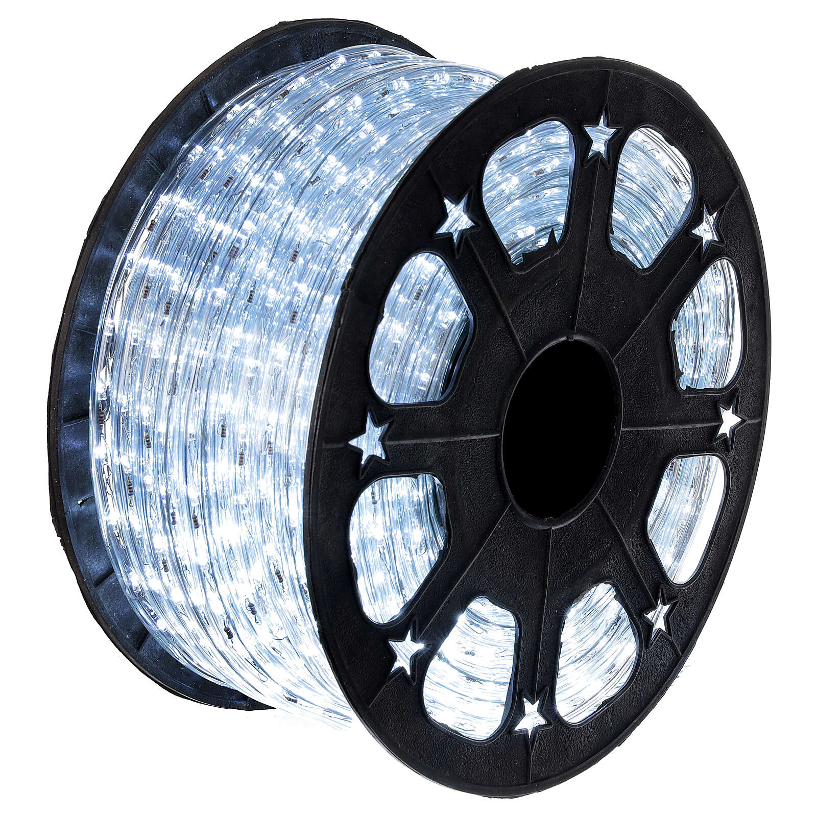 LED rope light PROFESSIONAL grade 44 m 2 wires 1584 LEDs 13 mm cold white OUTDOOR 3