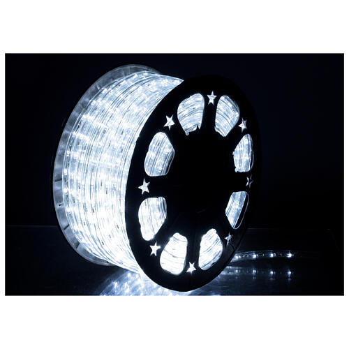 LED rope light PROFESSIONAL grade 44 m 2 wires 1584 LEDs 13 mm cold white OUTDOOR 1