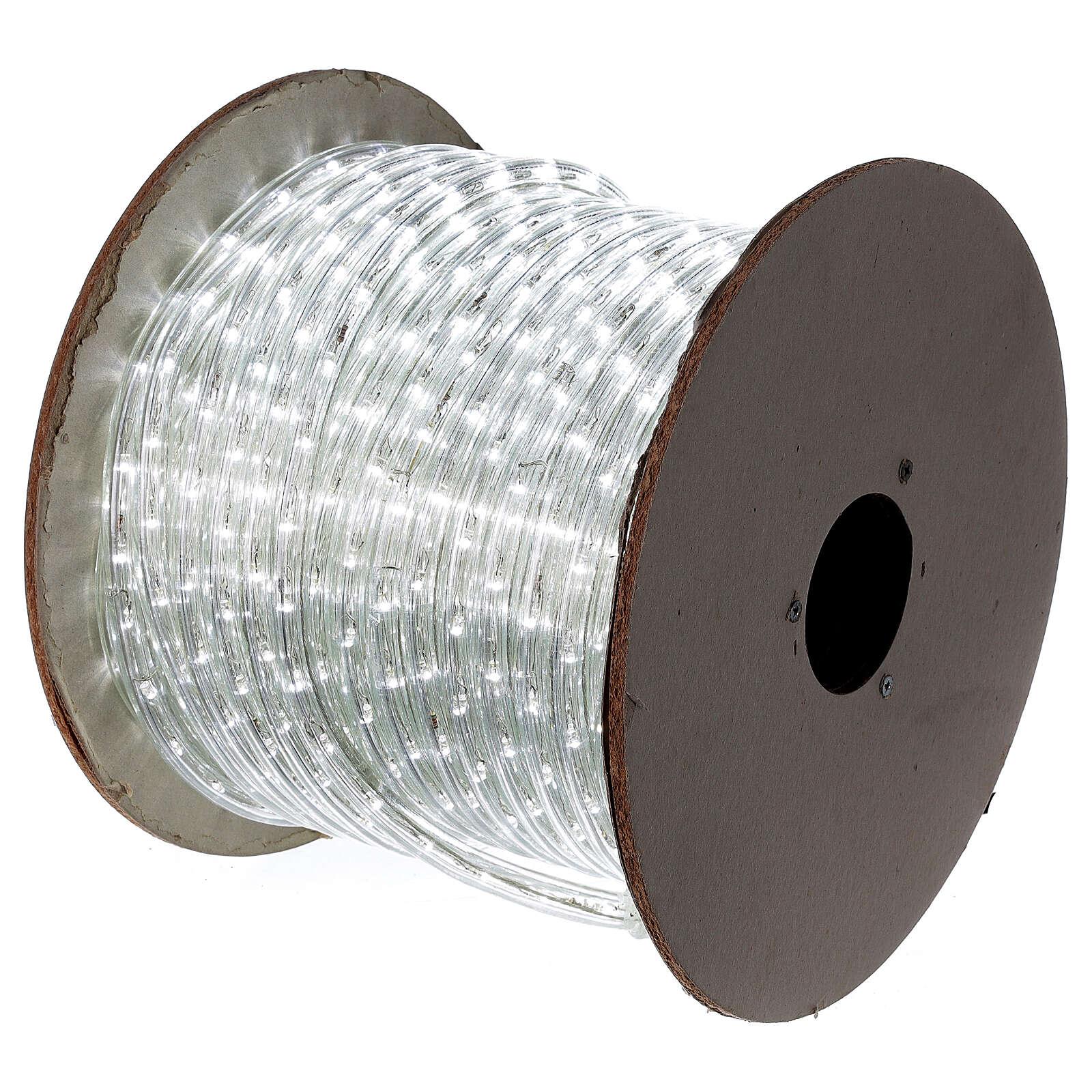 Tubo 2 fili lampadine led PROFESSIONAL 44 m bianco freddo corrente ESTERNO 3