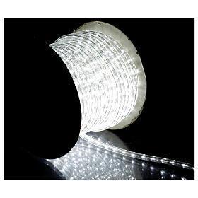 Tubo 2 fili lampadine led PROFESSIONAL 44 m bianco freddo corrente ESTERNO s2