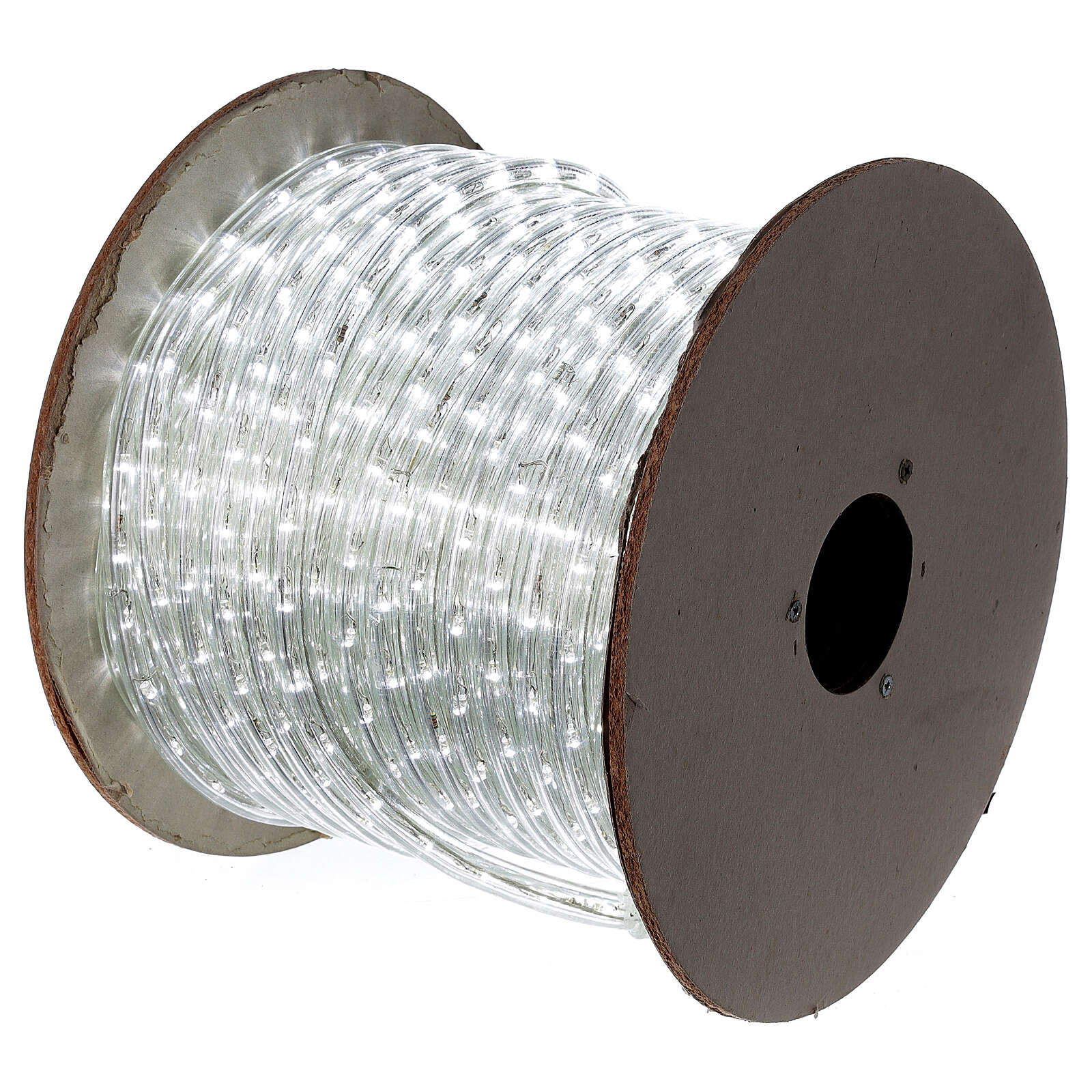 LED rope light PROFESSIONAL 44 m 2 wires LEDs cool white OUTDOOR 3