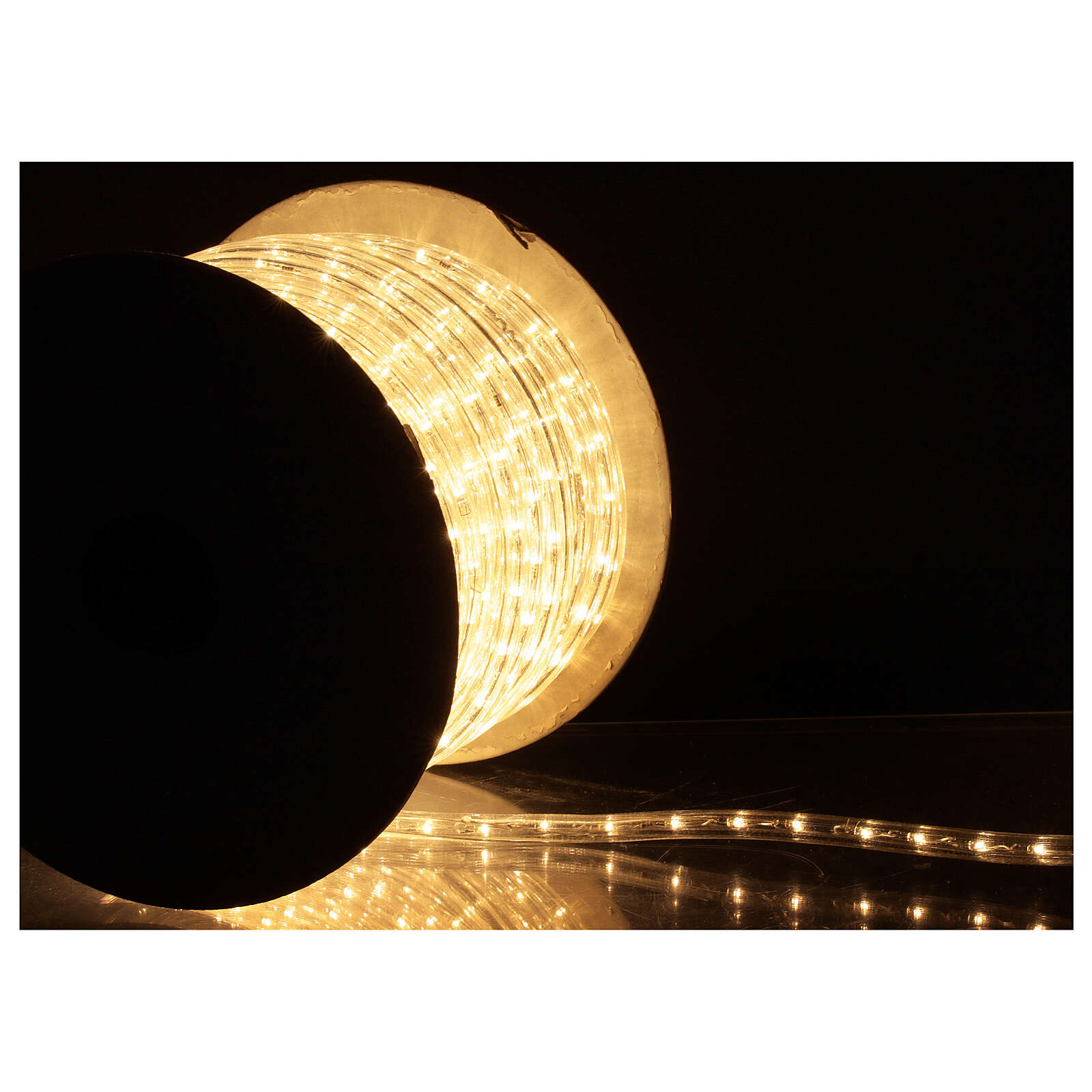 LED strip lights PROFESSIONAL 2 wires 1584 warm white LEDs 44 m electric powered OUTDOOR 3