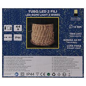 Tube LED PROFESSIONAL 2 fils 1584 lumières blanc chaud 44 m courant EXTÉRIEUR s5