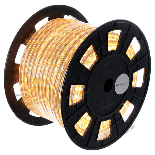 LED rope lights PROFESSIONAL 3000 warm white 50 mt accessories OUTDOORS 6