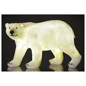 LED polar bear Christmas white lights 35x55x30 cm s1