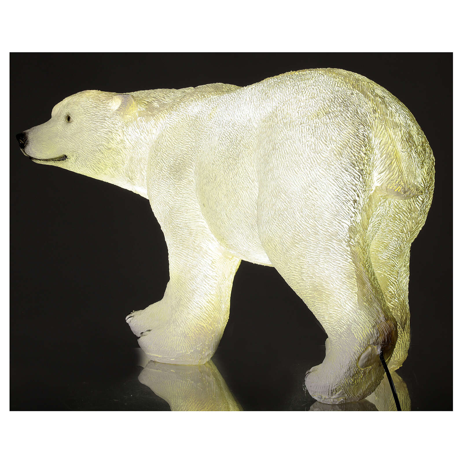 Orso polare led bianco luce Natale 35x55x30 cm 3