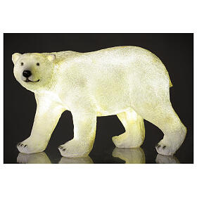 Orso polare led bianco luce Natale 35x55x30 cm s1