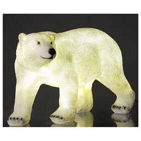 Orso polare led bianco luce Natale 35x55x30 cm s2