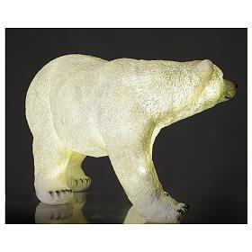 Orso polare led bianco luce Natale 35x55x30 cm s3