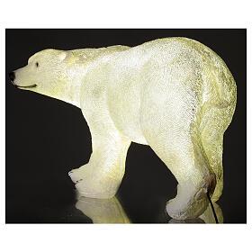 Orso polare led bianco luce Natale 35x55x30 cm s4